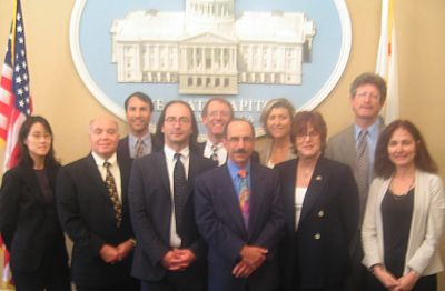 Greentech Innovation Network leaders pose for a photo in Sacramento, August 16 2006