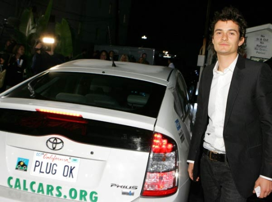 Actor Orlando Bloom at the pre-Oscars party, February 2007