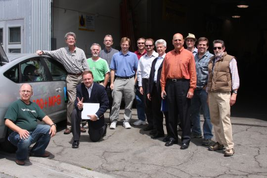 GM and CalCars at Greengears in San Francisco, August, 2008