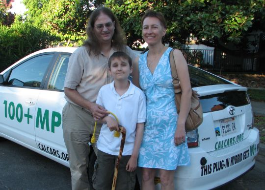 David Godfrey, 13, and parents on day of visit to LBNL, etc, August 25, 2008