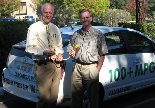 Peter Giles with Russell Hancock in Palo Alto, August 2008