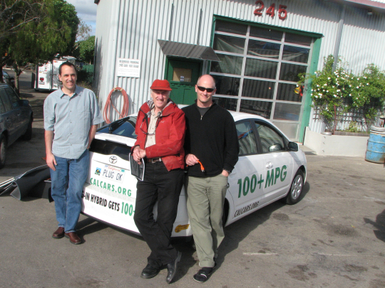 Jeff Goodell, Stewart Brand and Alexander Rose in Marin, March 2007
