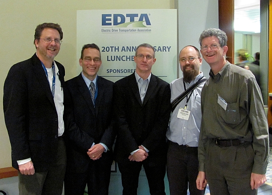 Green Car Journalists and Felix Kramer at the 2010 EDTA Conference in Washington D.C.