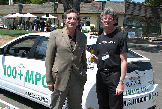 Silicon Valley Assembly Member Ira Ruskin and Felix, April 20, 2008