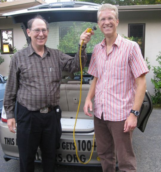 Late climatologist Stephen Schneider of Stanford University with Sven Thesen, August 2008